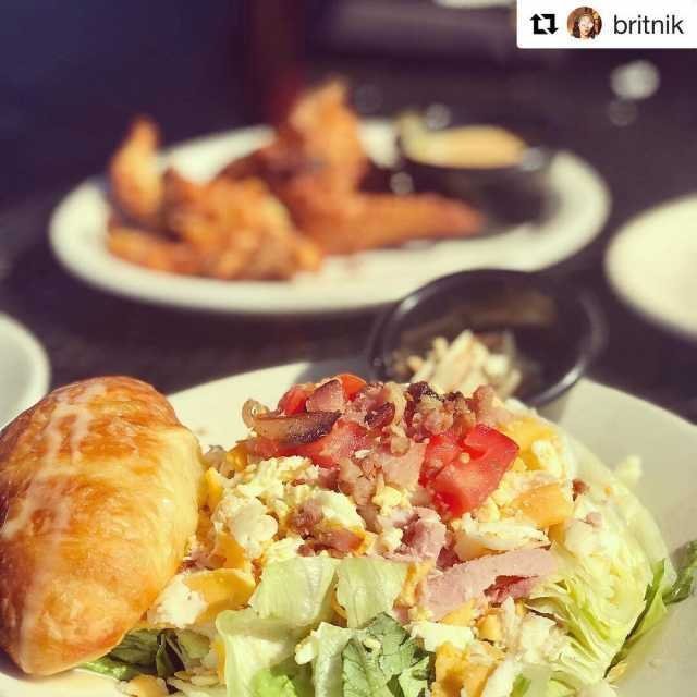 Repost britnik getrepost  californiadreamingsalad with the honeybutter croissant