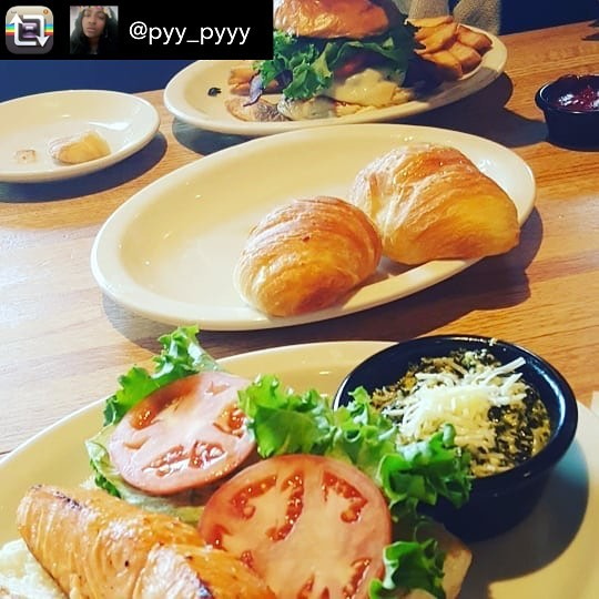 Repost from pyypyyy using RepostRegramApp  Food with my girl!