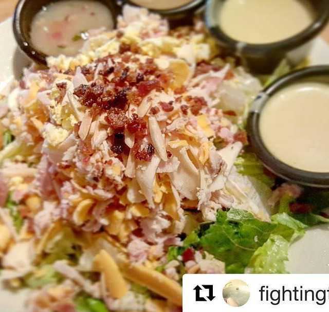 Repost fightingthemoment with getrepost  The famous cdrestaurant salad Charlestonhellip