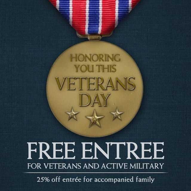 Tomorrow 111116 veterans  active military service members will receivehellip