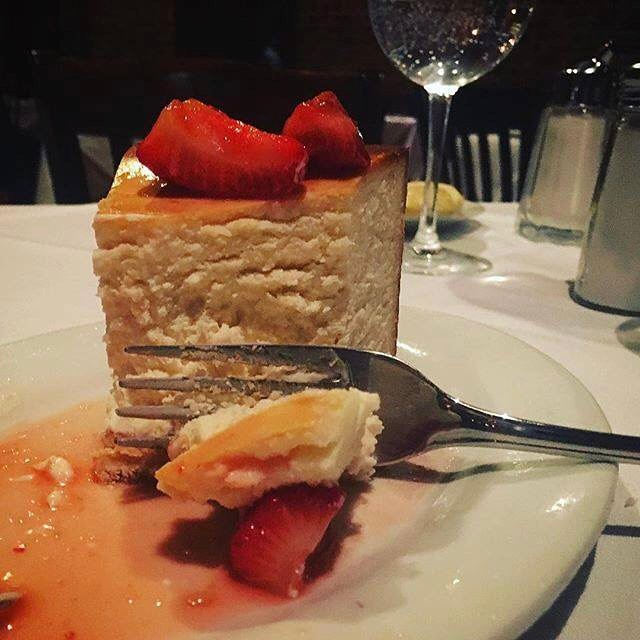 Love at first bite  Chophouse47 yeahthatgreenville cheesecake foodie Greenville