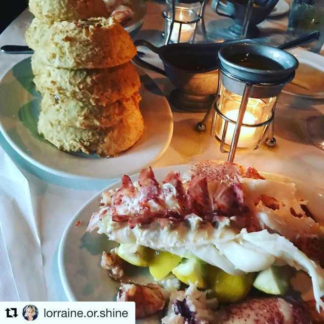 Repost lorraineorshine getrepost  Lobster and onion rings imgood lobsterhellip