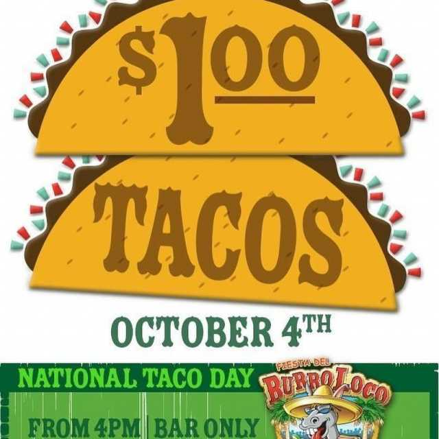 NationalTacoDay  insanity Enjoy 1 tacos at BurroLoco 4PM tilhellip