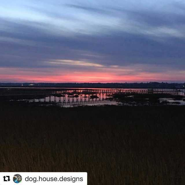 Repost doghousedesigns with repostapp  gulfstreamcafe nofilter sunset MyrtleBeach MurrellsInlethellip
